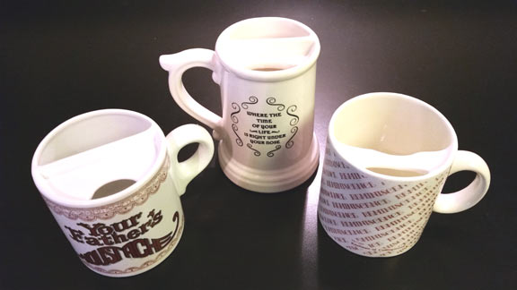 Victorian mustace cup replicas